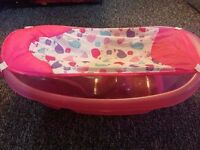 FREE baby bathtub Summer Infant Sparkle 'n Splash Newborn pink