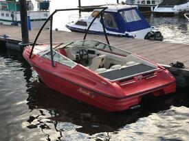 Mariah sports boat, cruiser with trailer