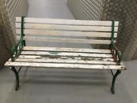 Wrought iron & wooden bench