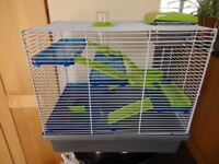 Good quality hamster cage, various levels and ladders