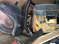 Partner disc cutter with diamond blade petrol grinder