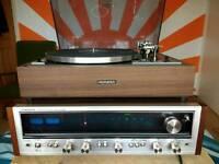 Vintage Pioneer SX636 Receiver Amplifier + Pioneer PL12D Turntable.