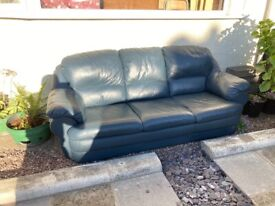 A 3 seats leather sofa for sale