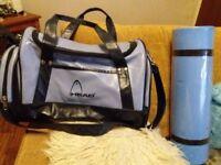 Sports bag and yoga mat