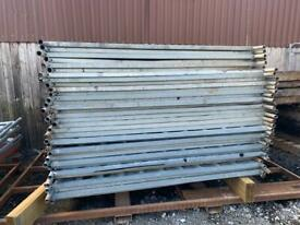 Solid Security Hoarding Fencing Panels - Used