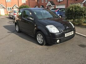 Citroen C2 in black 2005 reg , full history,long mot ,LOW INSURANCE GROUP,ideal1st car ,px welcome