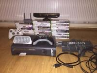 Xbox 360 with Kinect + 37 games