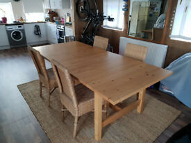 Dinning chairs - Bamboo and Wicker High Back, set of four, great condition, only £90