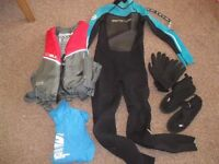 Child's Wetsuit, Buoyancy Aid, Rash Vest, Boots & Gloves