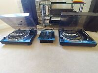 Citronic Direct Drive Turntables and Mixer - Stanton Cartridges - Decks - Record - Vinyl – Turntable