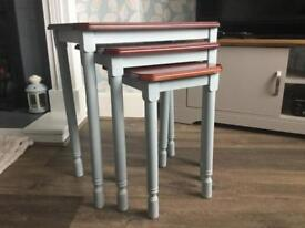 Coffee Table and Matching Nest of Tables £45 Duck Egg Blue