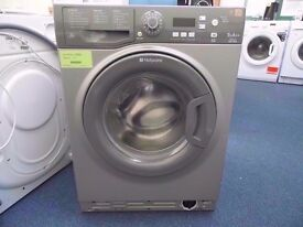 EX-DISPLAY GRAPHITE HOTPOINT SMART 9 KG 1400 SPIN WASHING MACHINE REF: 11348