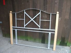 Double headboard metal wood very nice looking delivery available £10