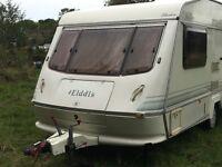 Elddis Gulfstream XL, external 240v point. Blown air heating. Great condition 1994