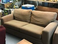 LARGE TWO SEATER SOFA WITH MATCHING CHAIR
