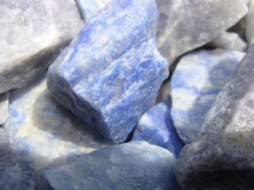 Blue Quartz Rough - Very High Quality - 1000 Carats + a FREE faceted Gemstone
