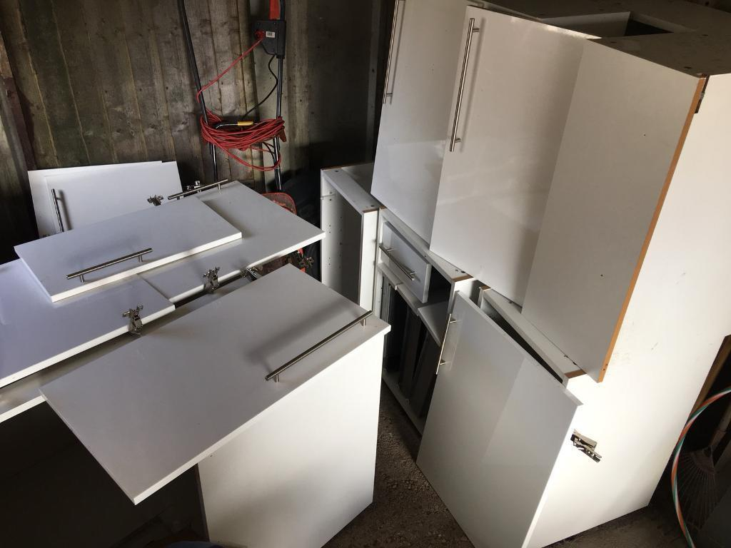 Kitchen Unit White Gloss Slab B Q It In Bournemouth Dorset Gumtree