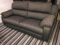 Brand New Electric Reclining Fabric 3 Seater sofa