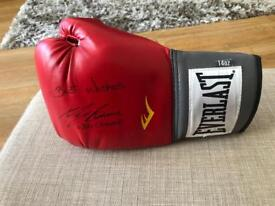 Ricky Burns signed glove and VIP Pass