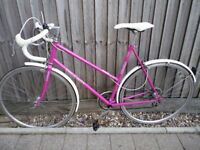 Lovely classic ladies Peugeot Road bike. Rare 57cm frame, Upgraded wheels, New parts, 7speeds