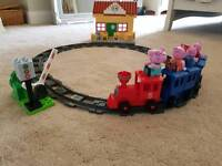 Peppa pig train station set