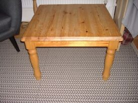 Coffee table solid pine (removable legs) £15.00