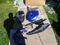 Yamaha YZFR (08-13 Plate) - Various bike parts including panels for sale.