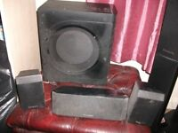 Set of Panasonic surround sound speakers