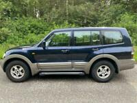 AUTOMATIC DIESEL MITSUBISHI SHOGUN 3.2L D-I-D (2003) 5 door estate with tow bar HIGH + LOW gears