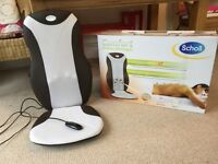 Scholl Electric massager fits onto chair.
