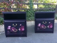 Beautiful Floral Drawers Bedside Bed Side Lamp Storage Table Cabinet Can Deliver