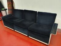 🛋 Vitsoe Modular Sofa Set (3-seater sofa + armchair) in Marine Blue, Used