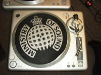 Ministry of sound MOS turntables mixing decks