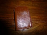 Never used real leather zipped key fob