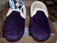 New boxed Padders slippers dark purple size 6
