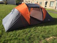 4-5 man tent with sleeping bags and sleeping mats