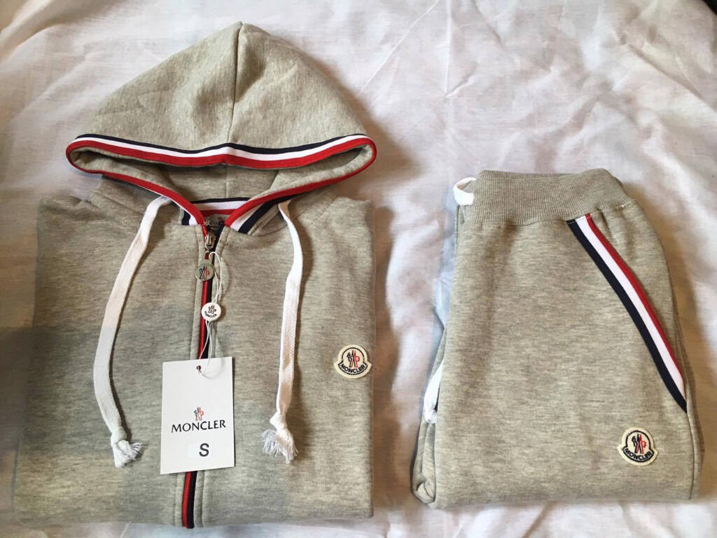 moncler grey tracksuit