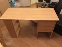 Large wooden desk - used in good conditions
