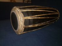 Madal Drum Nepalese Wooden Rawhide with two tones either side £40