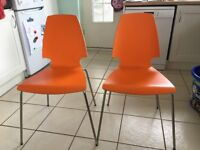 SET OF 2 DINING CHAIRS. IKEA. GOOD CONDITION!