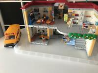 Playmobil school, bus and accessories