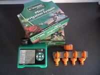 Complete Garden Micro Irrigation System including timer