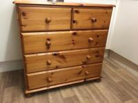 Pine solid chest of drawers ideal shabby chic + free local delivery @ £110