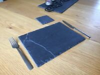 Set of Slate placemats and matching coasters
