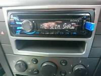 Sony car player with cd(mp3), usb, aux and Radio. got inputs for amp on the rear. 52 watts x 4