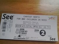 Carfest North 1 adult weekend camping ticket