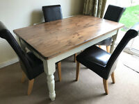 Solid Pine dining table and coffee table