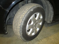 GOOD DEAL ! . VW Original 16 Inch Alloy Wheels . Good Winter Tyres . 5 X 120 PCD . T4 . T5 .