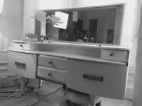 Ive got chalk white paint retro furniture for sale . Wardrobe and dressing table with mirror.