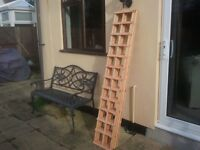 NEW TREATED GARDEN TRELLIS 6FT X 1FT COLLECT MALDON. ESSEX £7.50